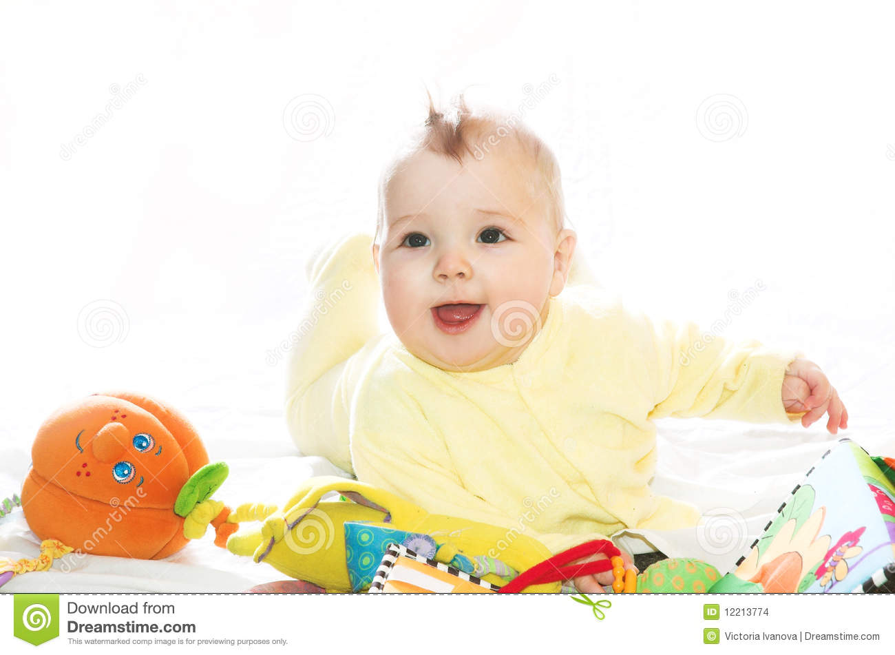 Little Boy Toys : Little boy playing with toys stock photo image of