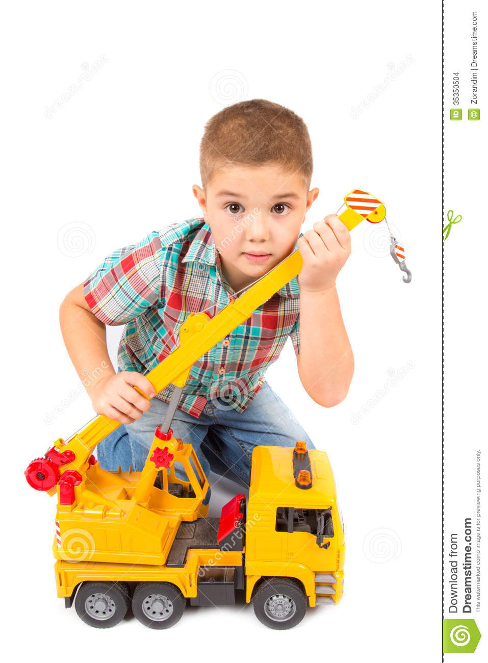 White Boys Toys : Little boy plays with toy truck stock images image