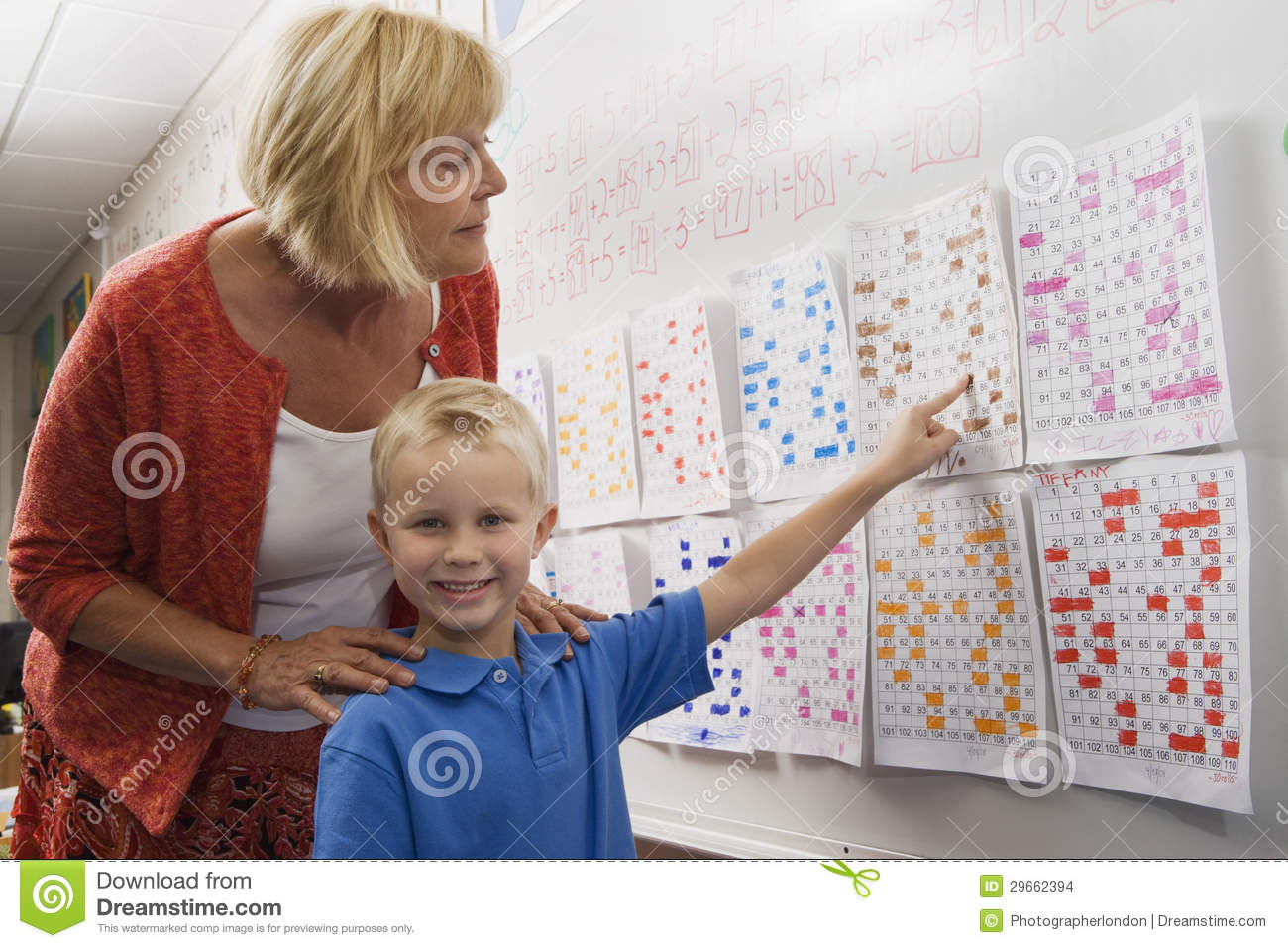 Little Boy Pointing To A Calendar Date For Teacher Stock ... Cute Baby Pointing Finger