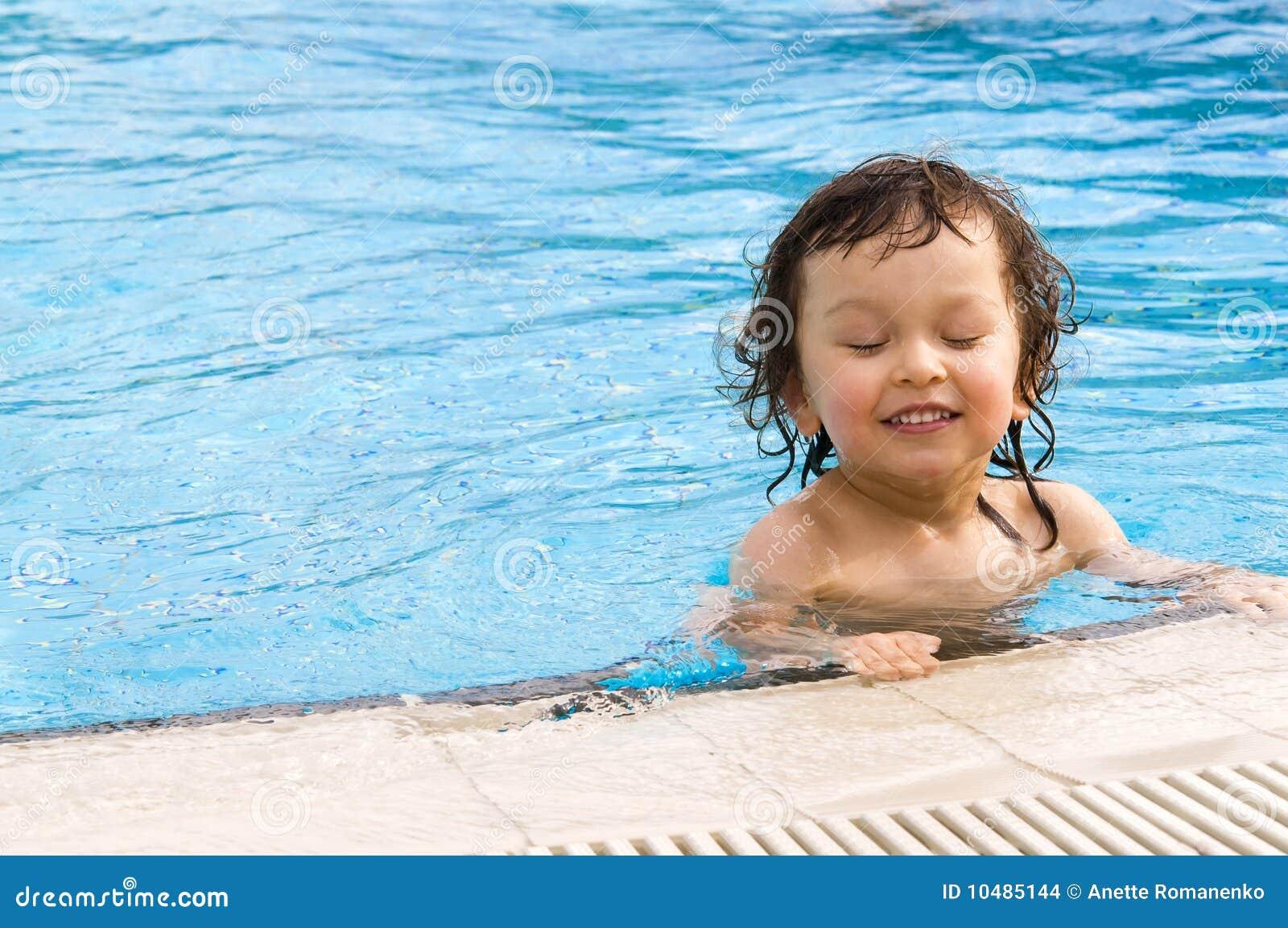 Little boy in pool