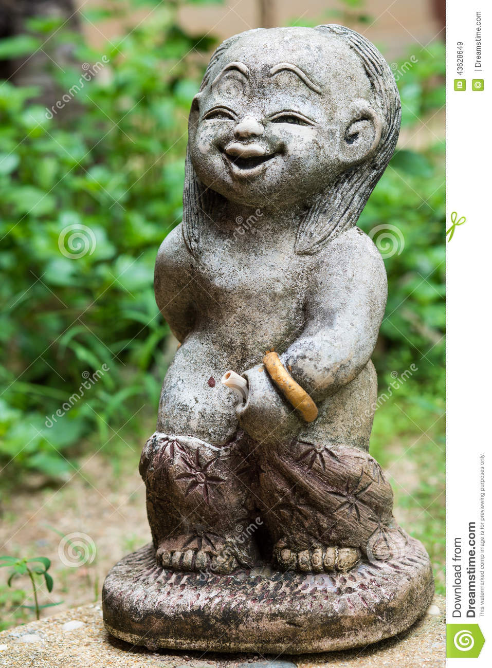 Amazing Download Little Boy Statue In A Garden Stock Image   Image Of Grass,  Sculpture: