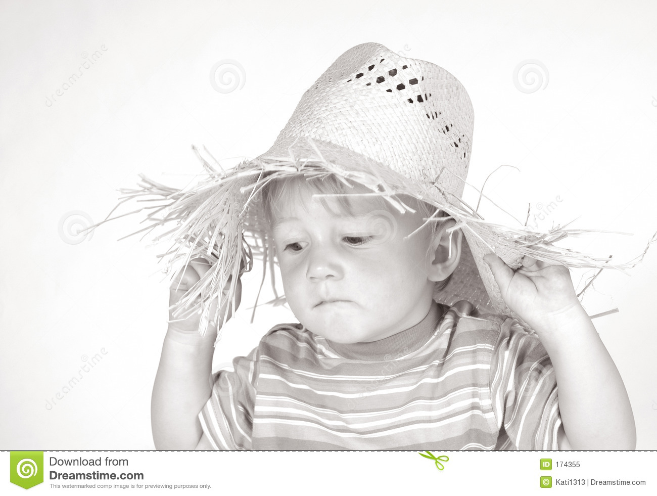 Little boy with straw hat III