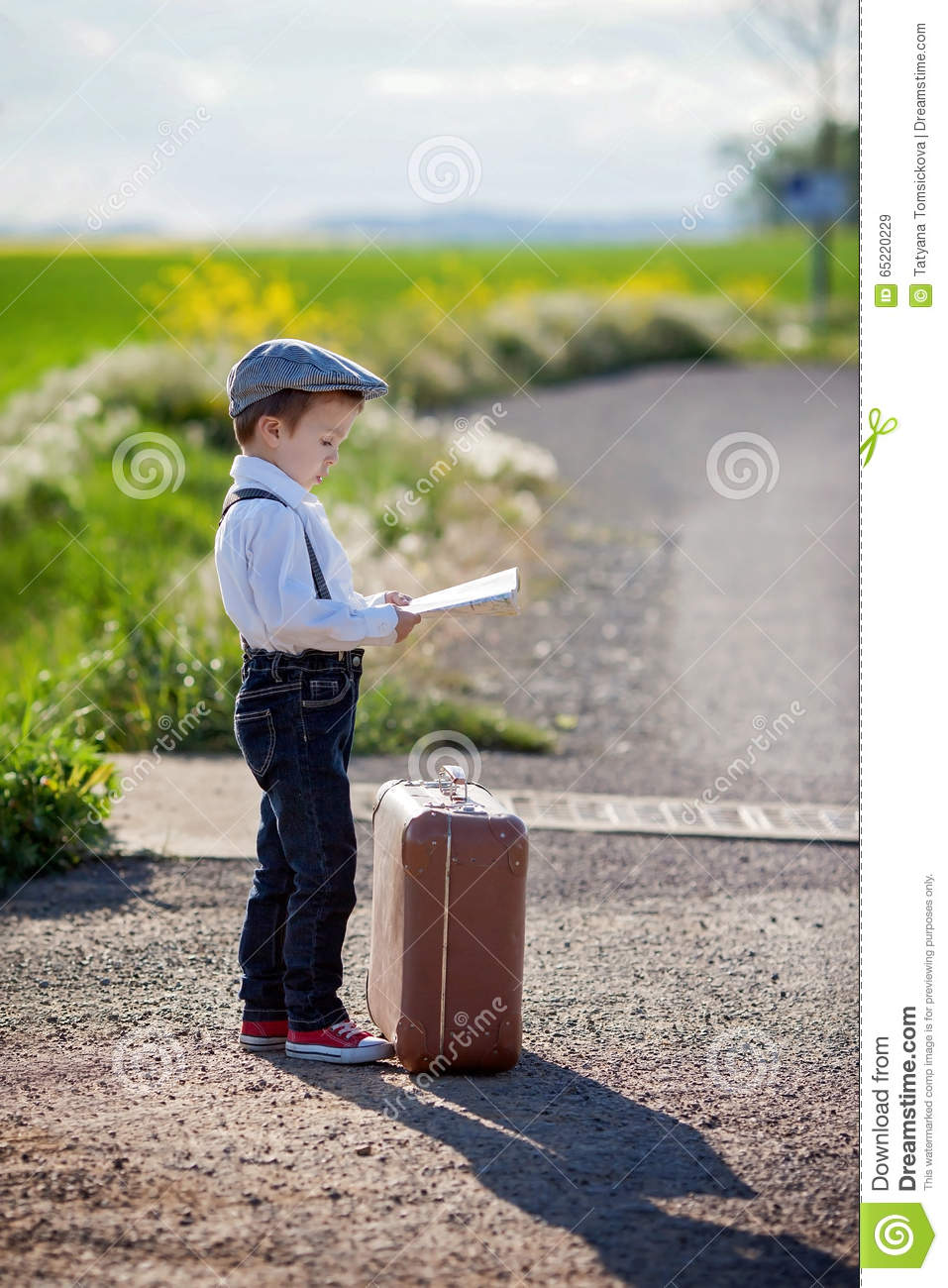 Little Boy Is Packing His Suitcase Stock Photo - Image of ...  Little Boy Traveling