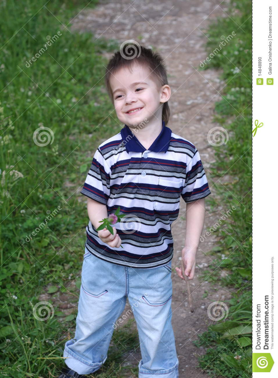 A little boy is in summer stock photo. Image of summer ...