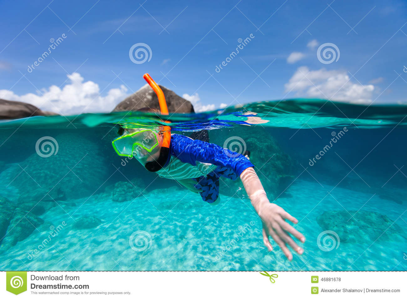 little boy swimming in ocean stock photo image 46881678