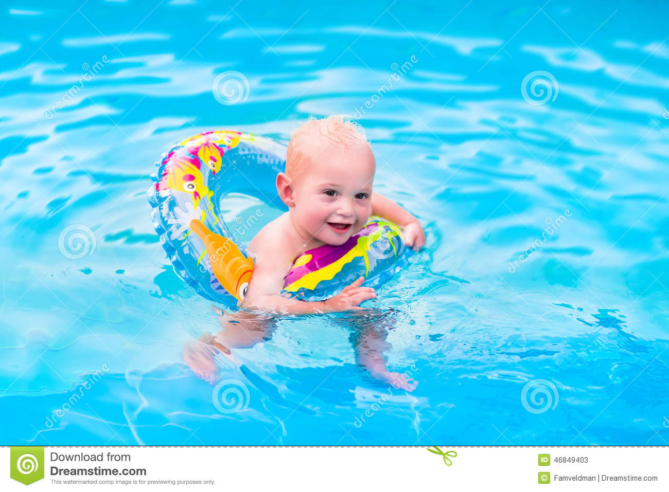 Little Boy In Swimming Pool Stock Image Image Of Color People 46849403