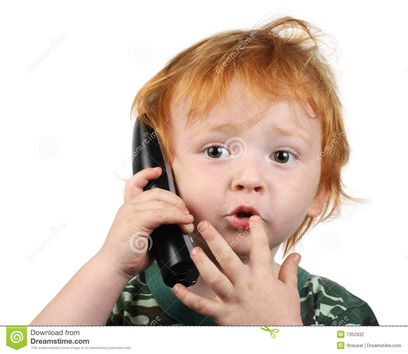 Little Boy Talking On The Phone Stock Photo - Image of ...