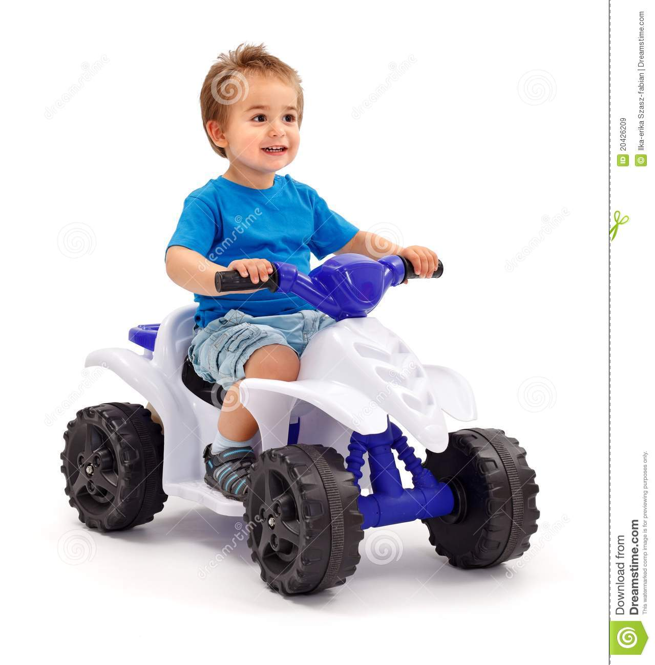 Little Boy With Toy Car : Little boy on toy car royalty free stock images image
