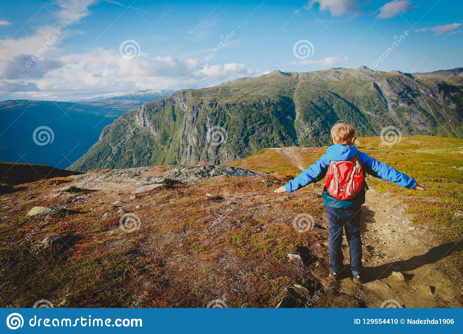 Little Boy With Suitcase And Map, Traveling Stock Image ...  Little Boy Traveling