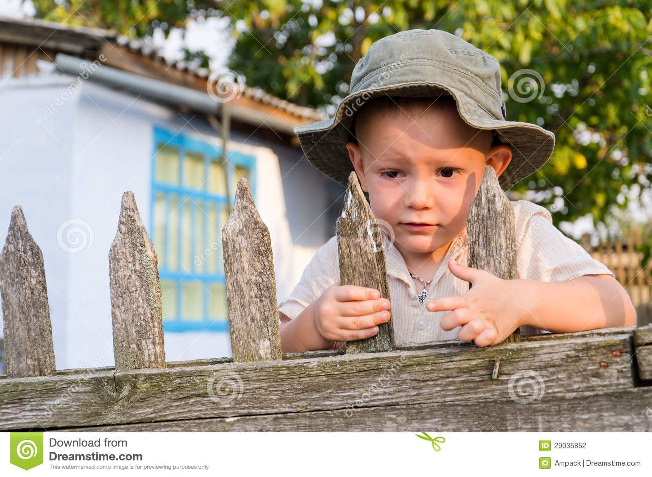 Little Boy Waiting For Dad To Come Stock Photo Image Of