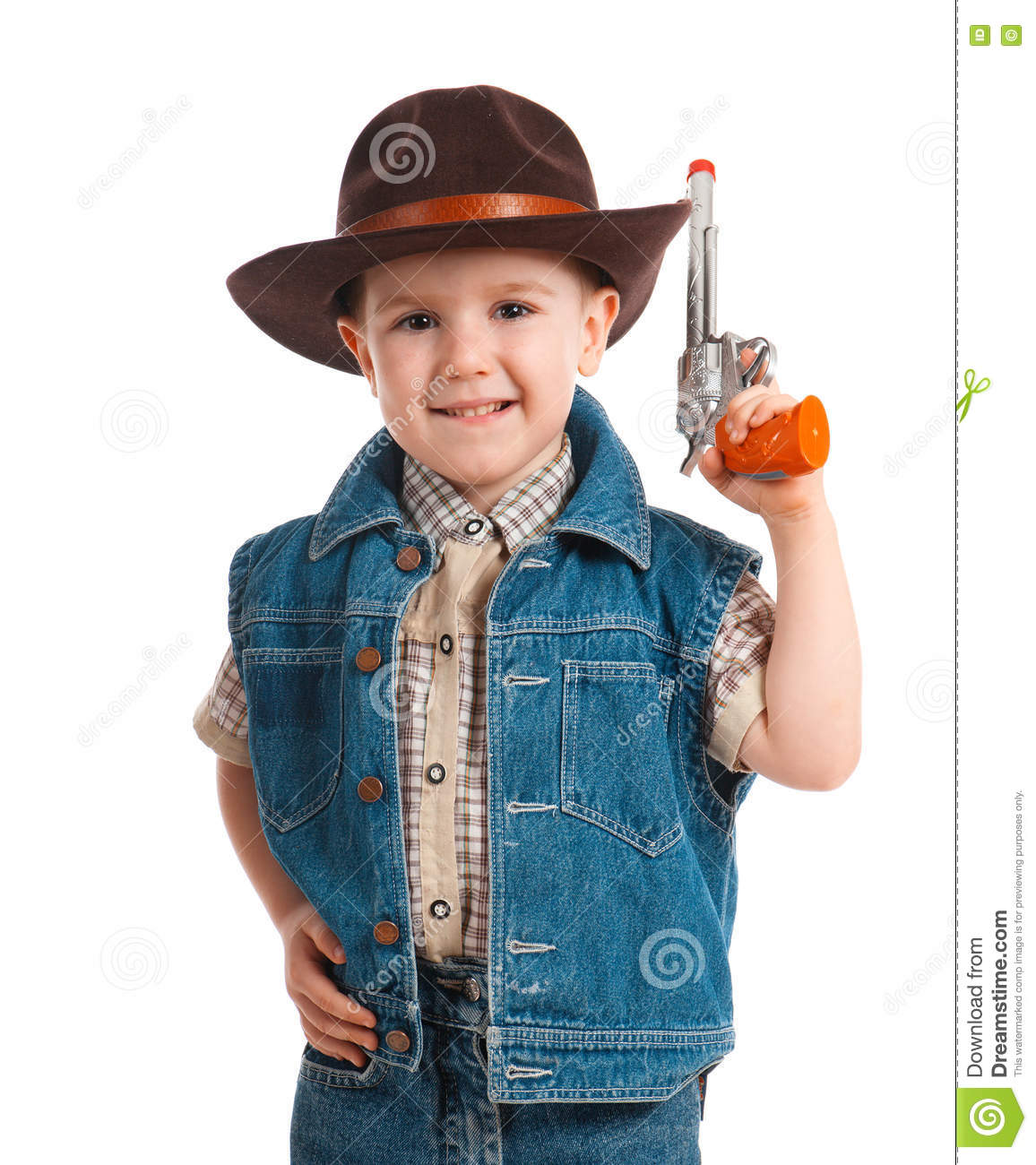 b9fe41adc49c2 Little Boy Wearing A Cowboy Hat Stock Photo - Image of little