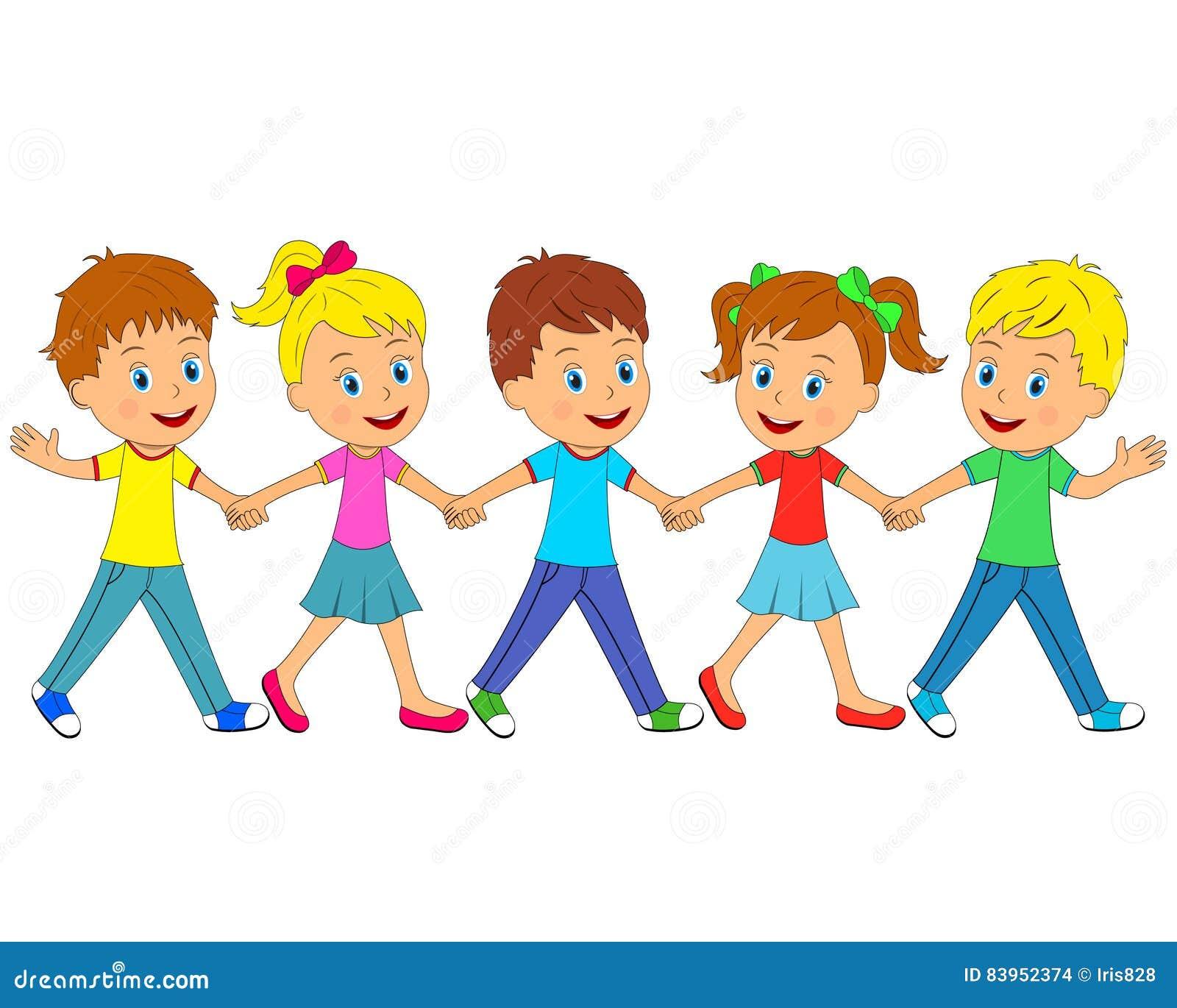 Little Boys And Girls Go Stock Vector Illustration Of Girl 83952374
