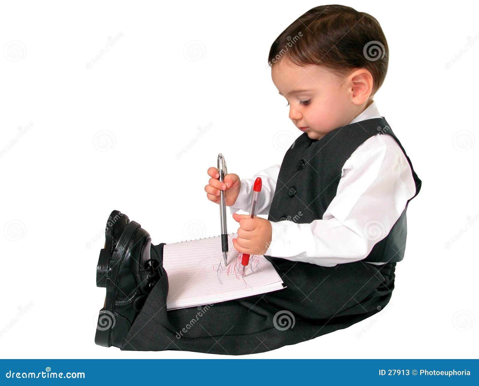 little business man series ambidextrous stock image