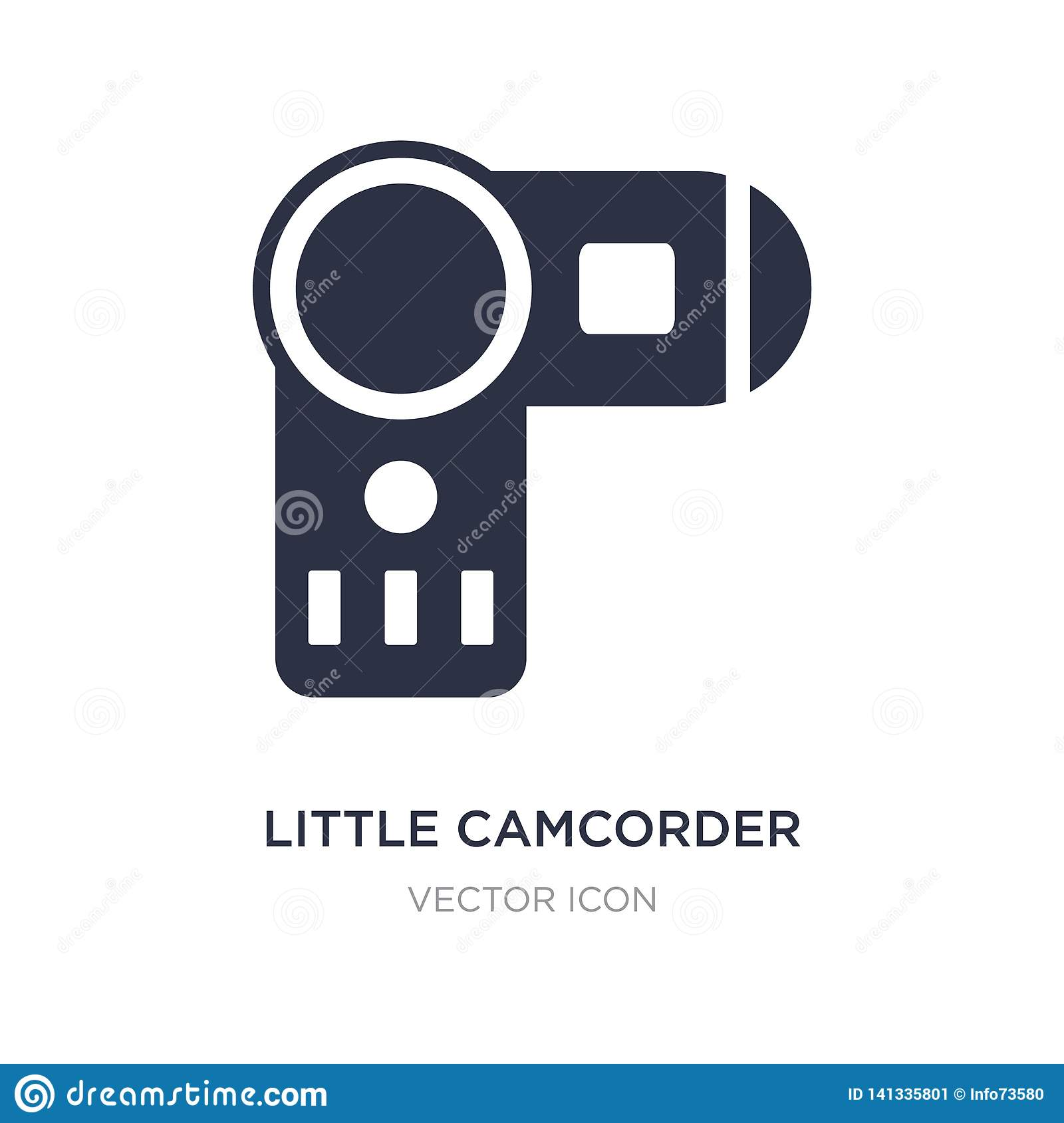 little camcorder icon on white background. Simple element illustration from Technology concept