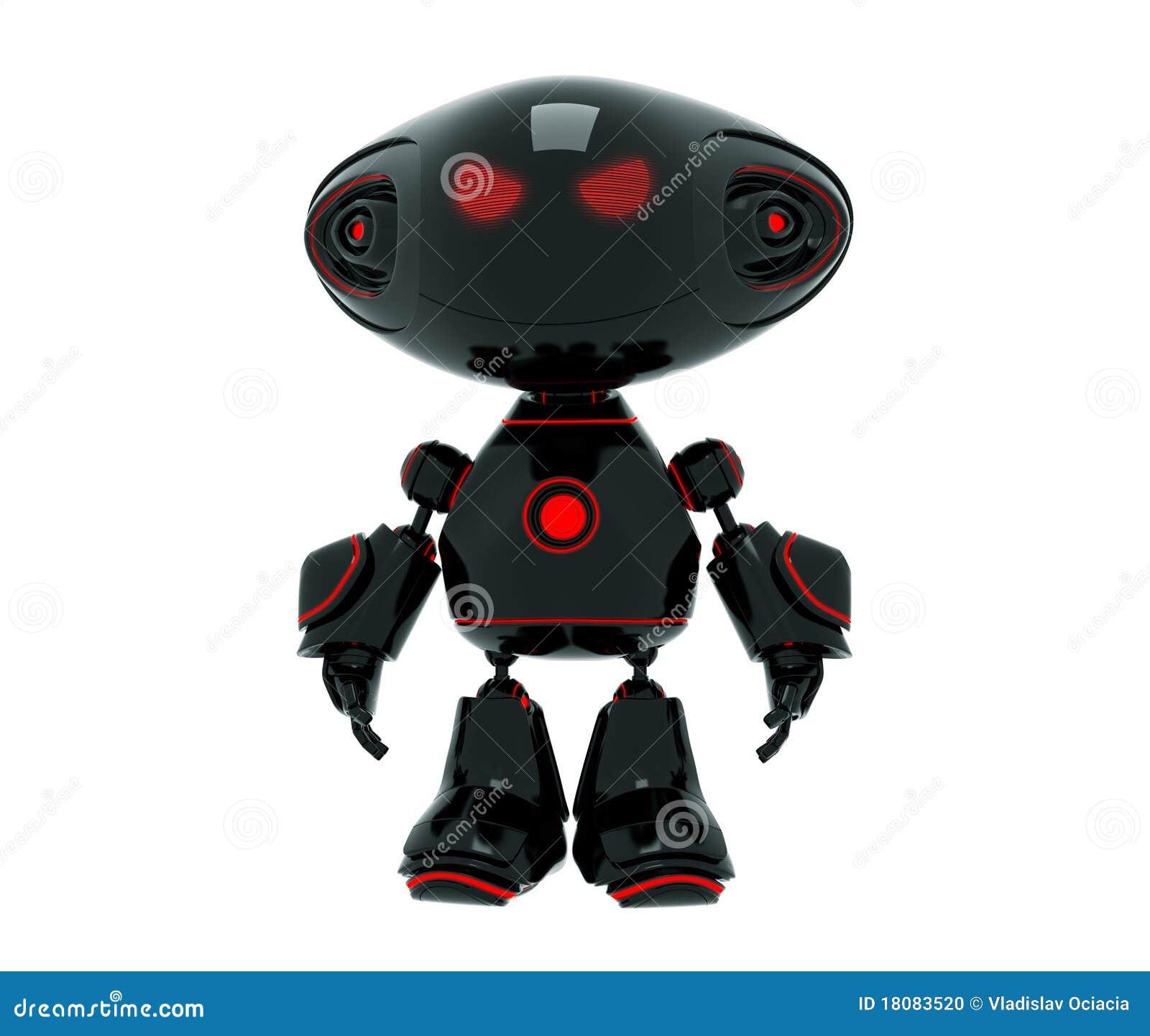 Cartoon Robot Toy : Little cartoon angry robot stock illustration