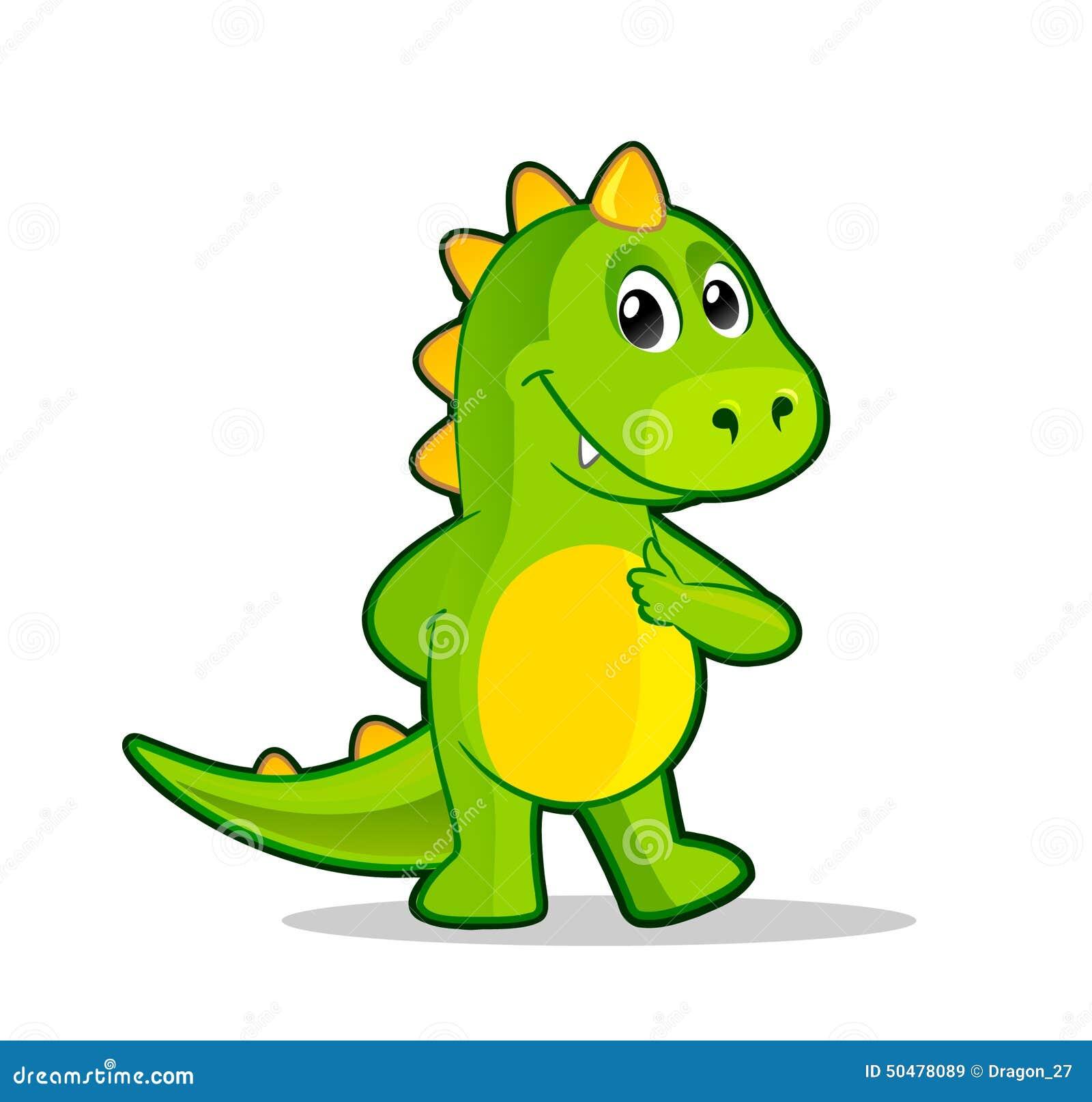 Little Cartoon Dragon Stock Vector Illustration Of Green 50478089