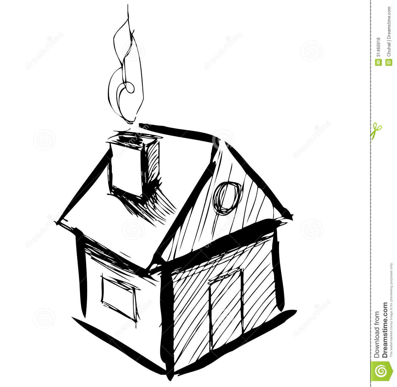Little cartoon house stock vector illustration of for Drawing of small house