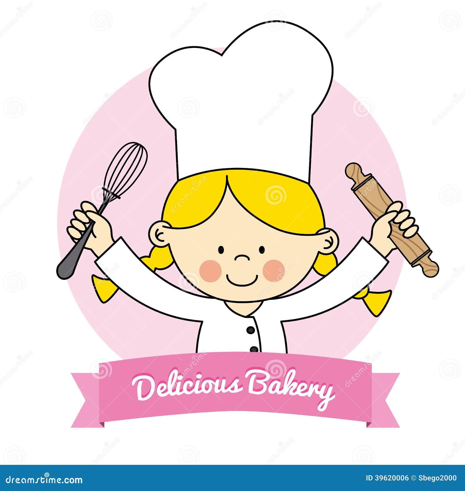 Little Chef Girl Stock Vector Illustration Of Illustration
