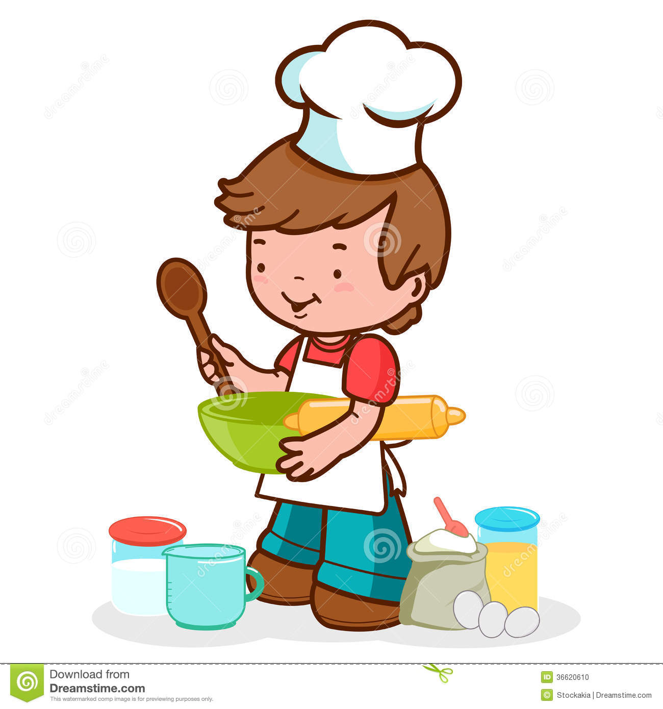 Child Preparing To Cook Stock Photo Image 36620610