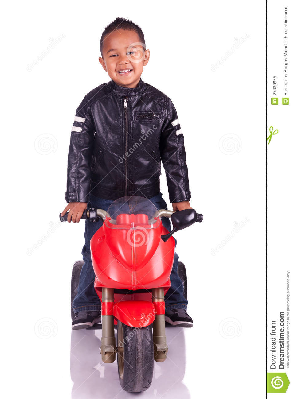 Little child on motorcycle stock image. Image of family - 27830655