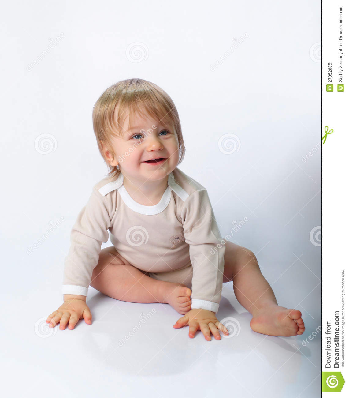 9efbd6388 Little Child Sitting On The Floor Stock Image - Image of cheerful ...