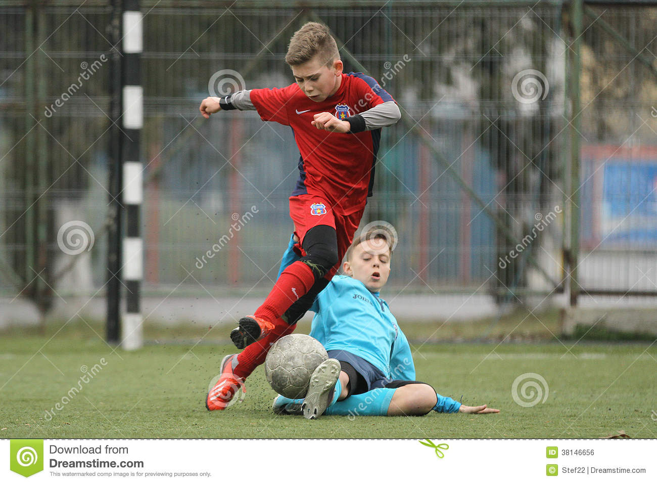 Little Children Playing Football Or Soccer Editorial Photo ...