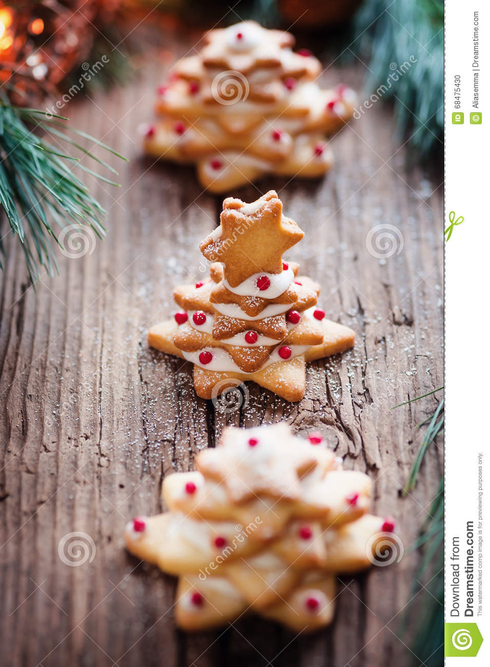 Little Christmas Cookie Tree Stock Photo Image Of December Cookie