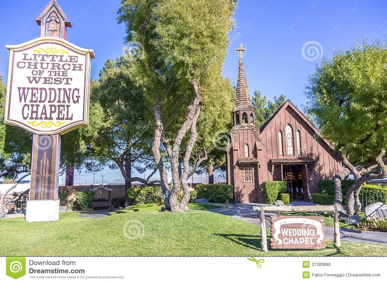 Little church of the west wedding chapel editorial image for Little las vegas