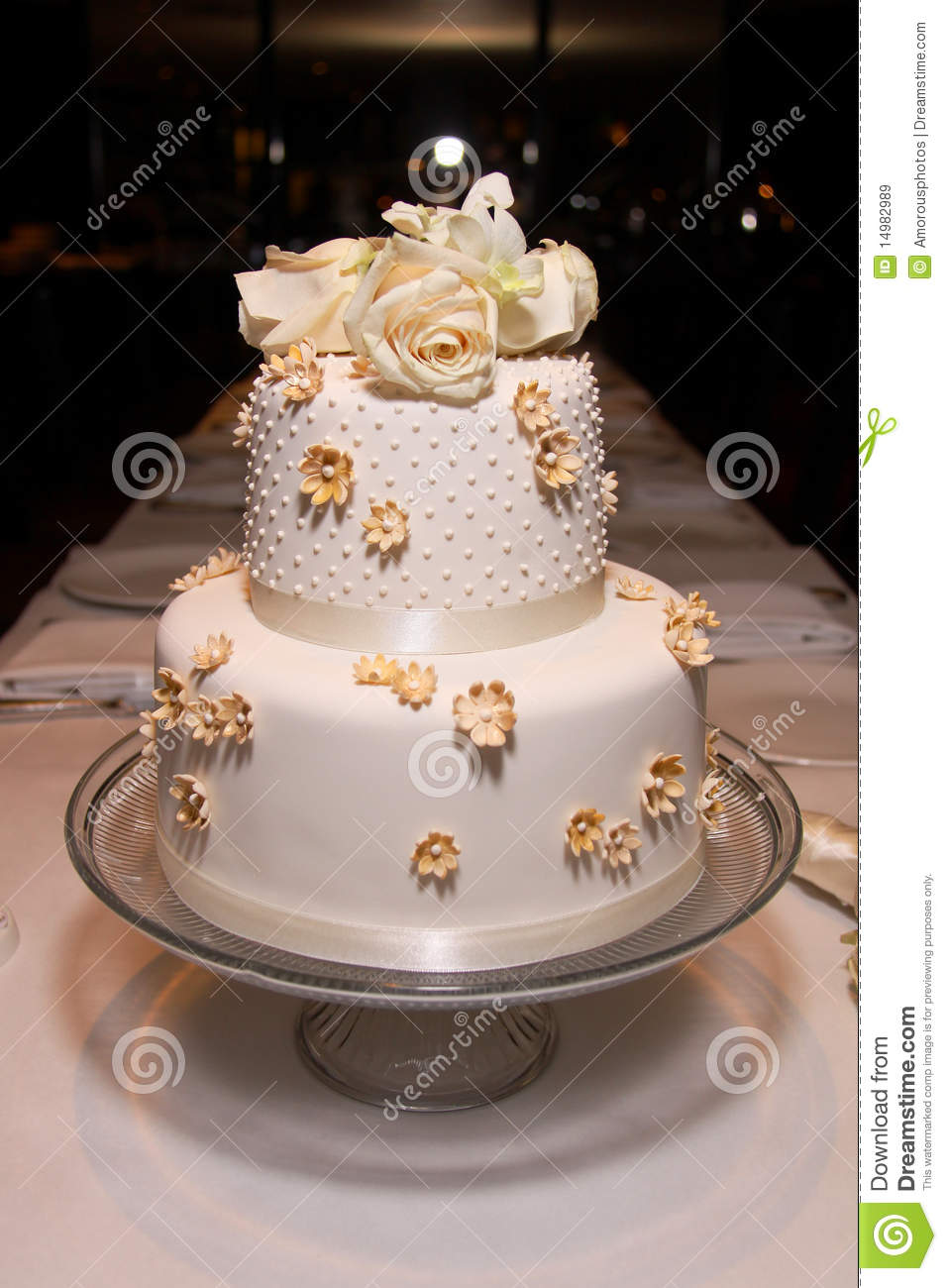 Little Classic Wedding Cake 2 Stock Image Image Of