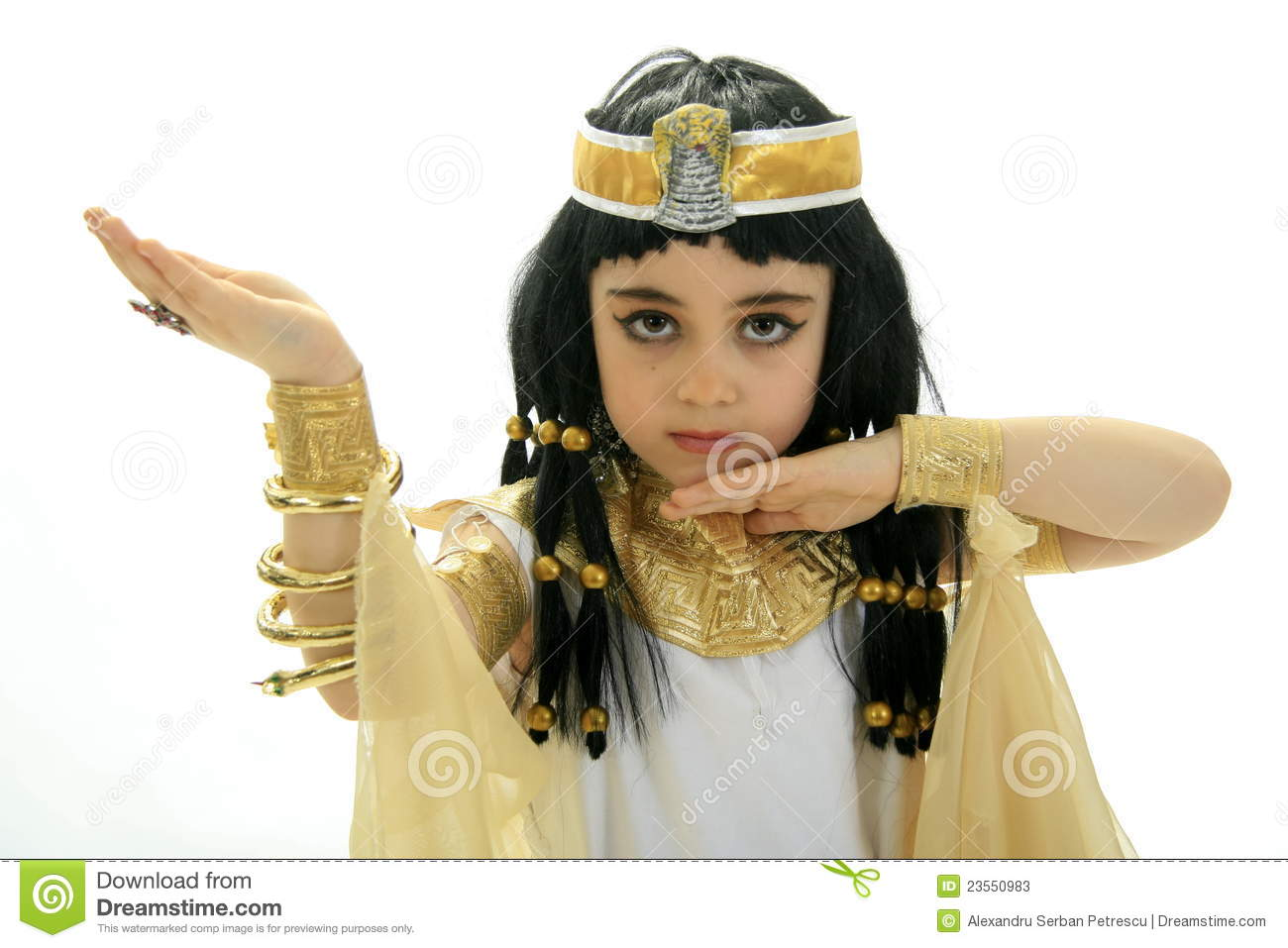 Little Cleopatra Stock Photos. Little Cleopatra. Portrait of female ...
