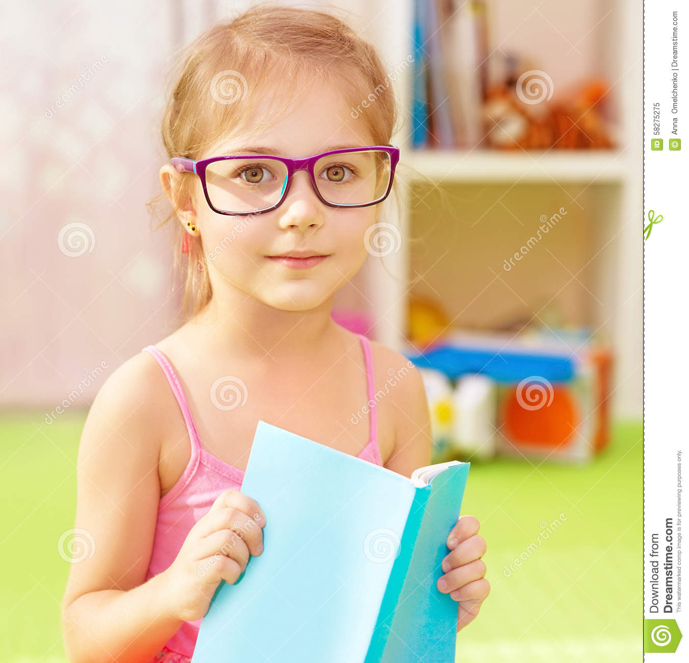 Clever School Girl: Little Clever Schoolgirl Stock Image. Image Of Girl