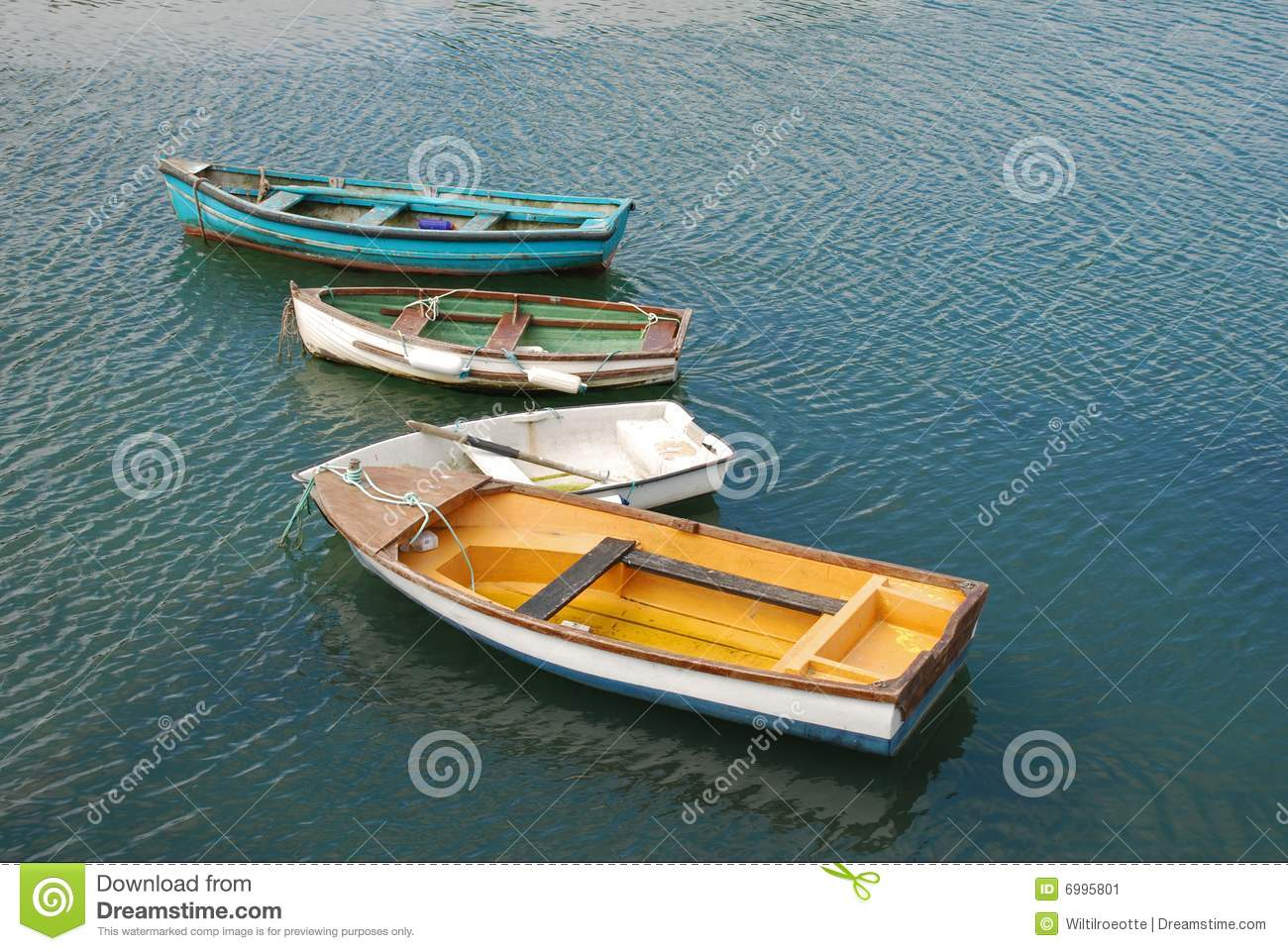 Little colorful boats