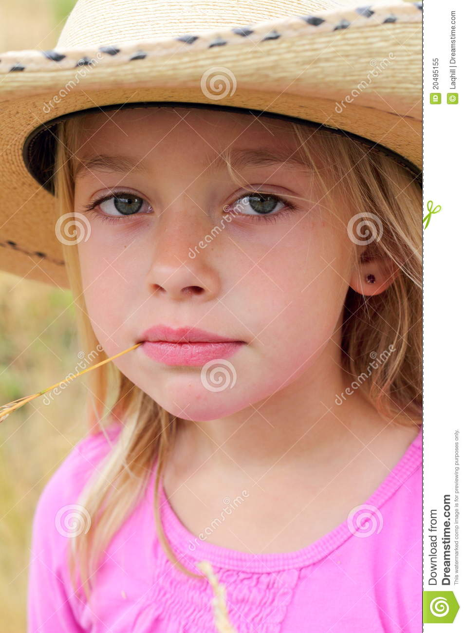 9dc4e2aaf Little Cowgirl stock image. Image of blond, shallow, wear - 20495155