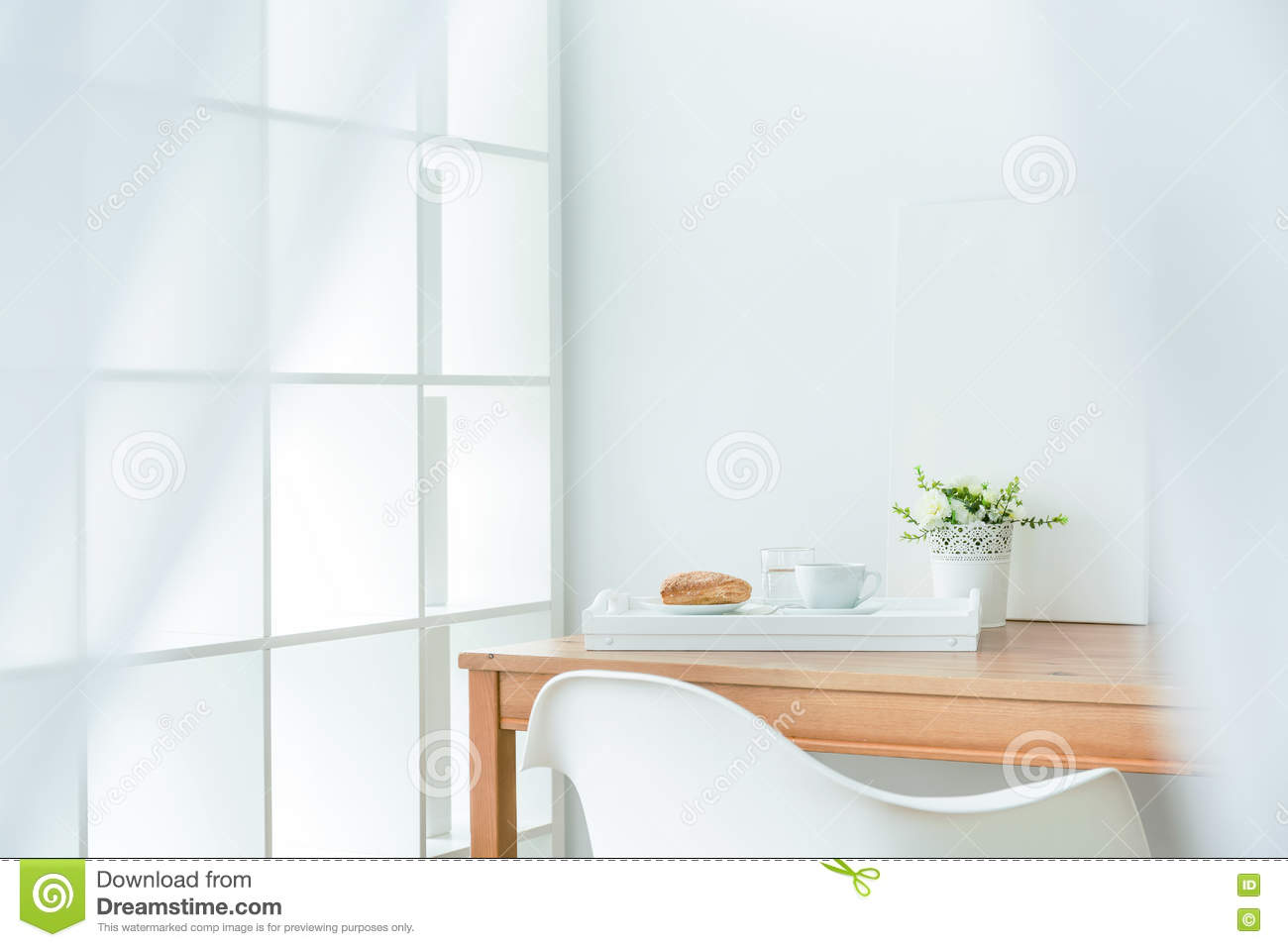 Little Cozy Dining Space Stock Photo. Image Of Interior
