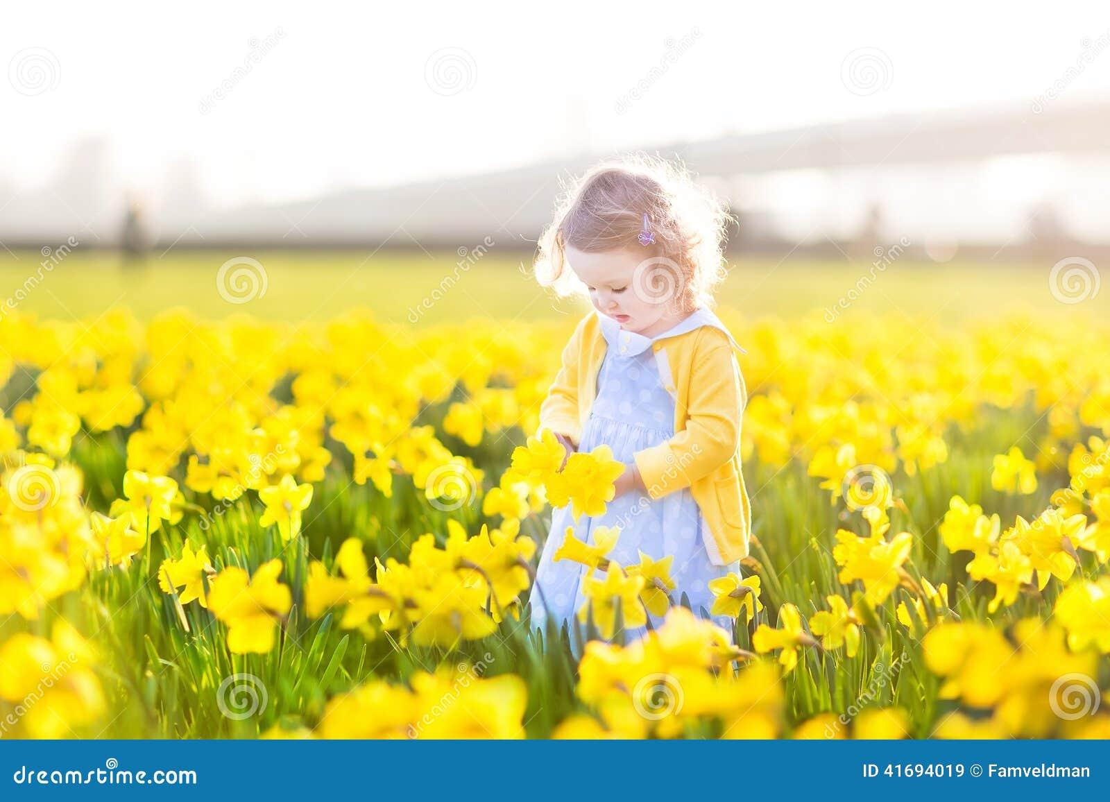 Nude Girl In A Field Little Flowers