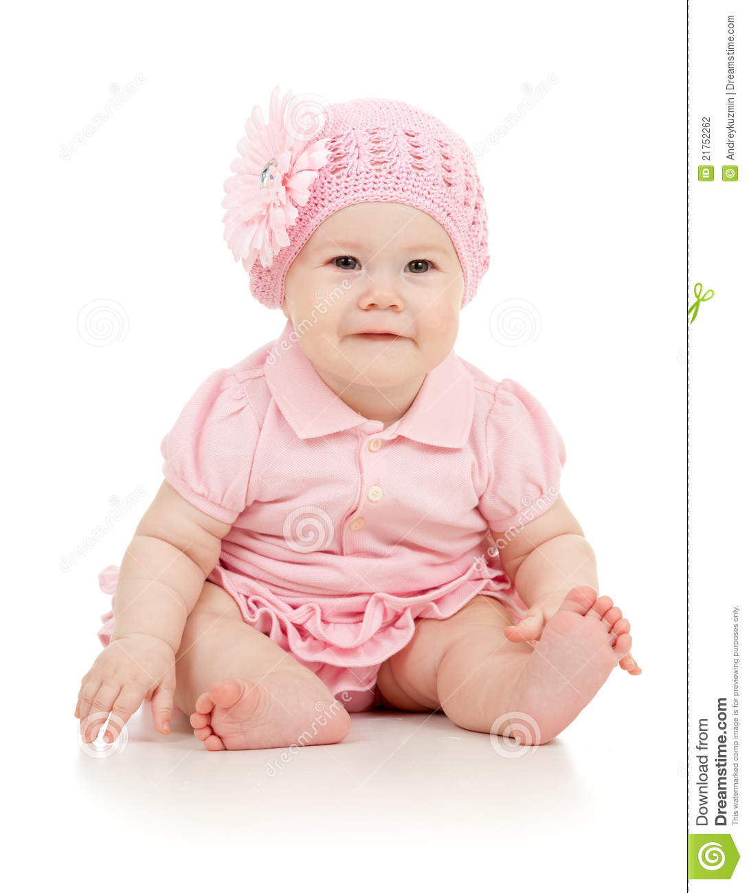 880a2cbdeca6 Little Cute Baby Girl Pink Dress Stock Images - Download 11
