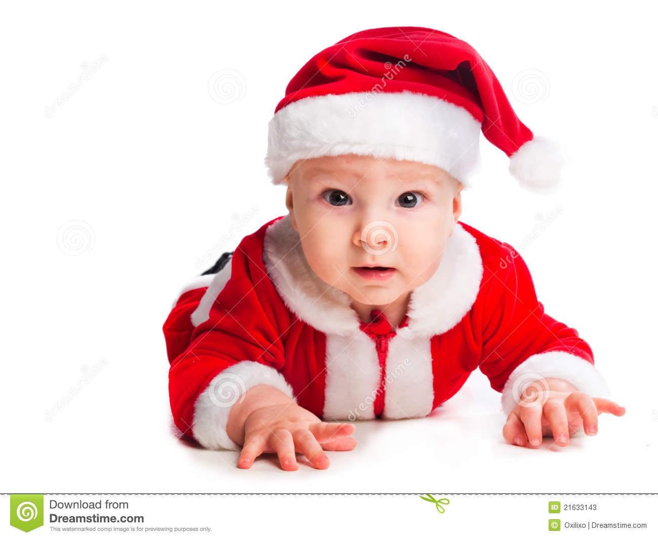Baby Gnome: Little Cute Baby Gnome In Red Stock Image