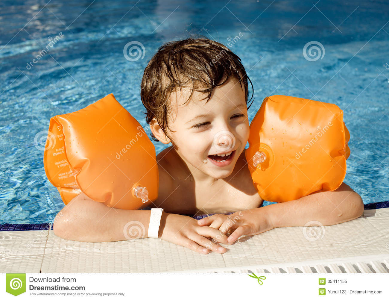 Little cute boy in swimming pool stock image image 35411155 for Cute pool pictures