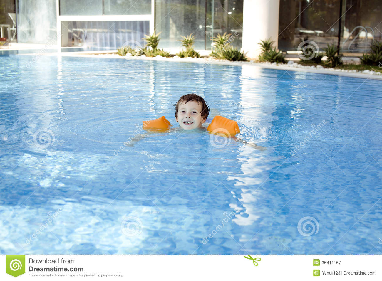 Little cute boy in swimming pool stock image image 35411157 for Cute pool pictures