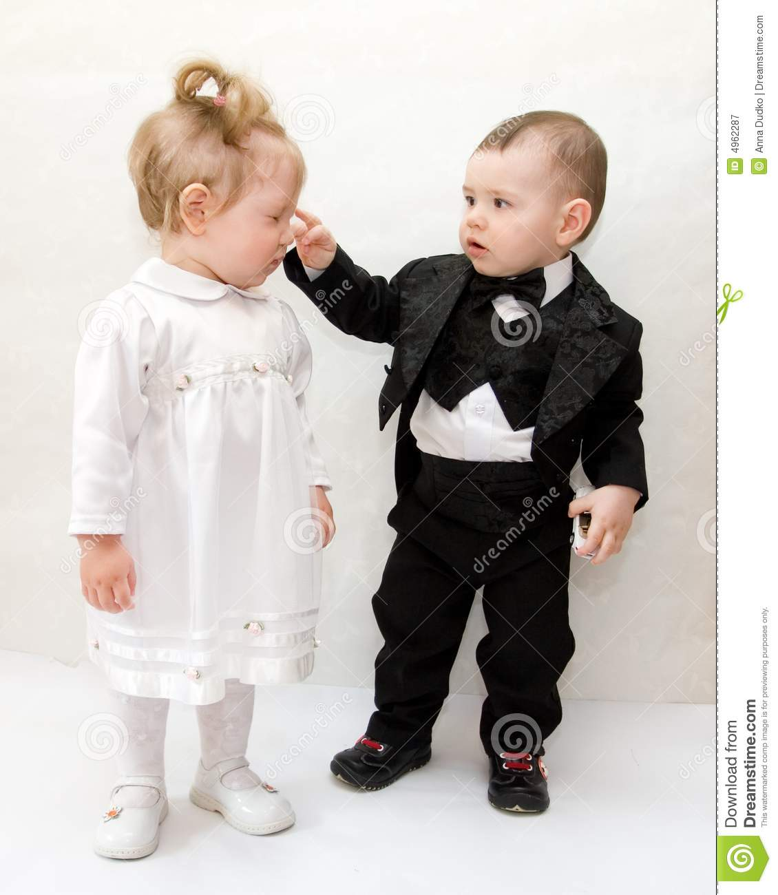 Little Cute Couple Stock Image Image Of Girl Child Cute 4962287