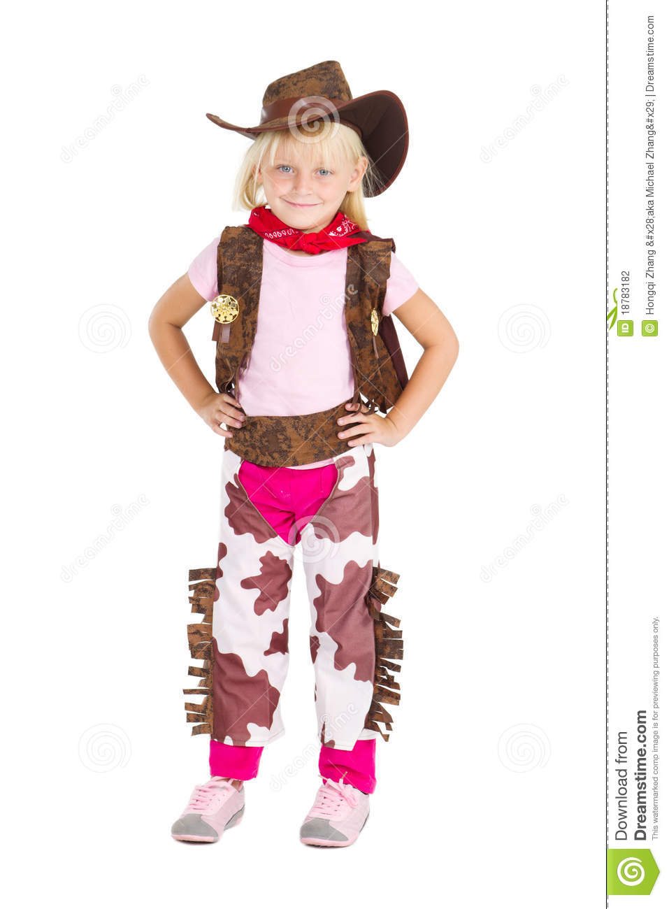 Little cute cowgirl  sc 1 st  Dreamstime.com & Little cute cowgirl stock photo. Image of imagination - 18783182