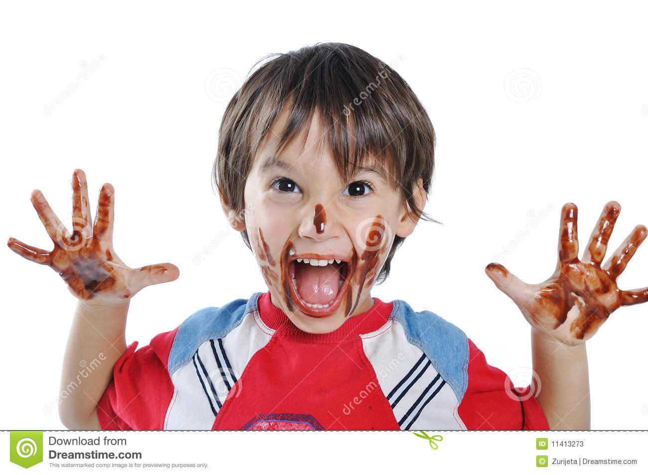 Little Cute Kid With Chocolate Stock Photos - Image: 11413273