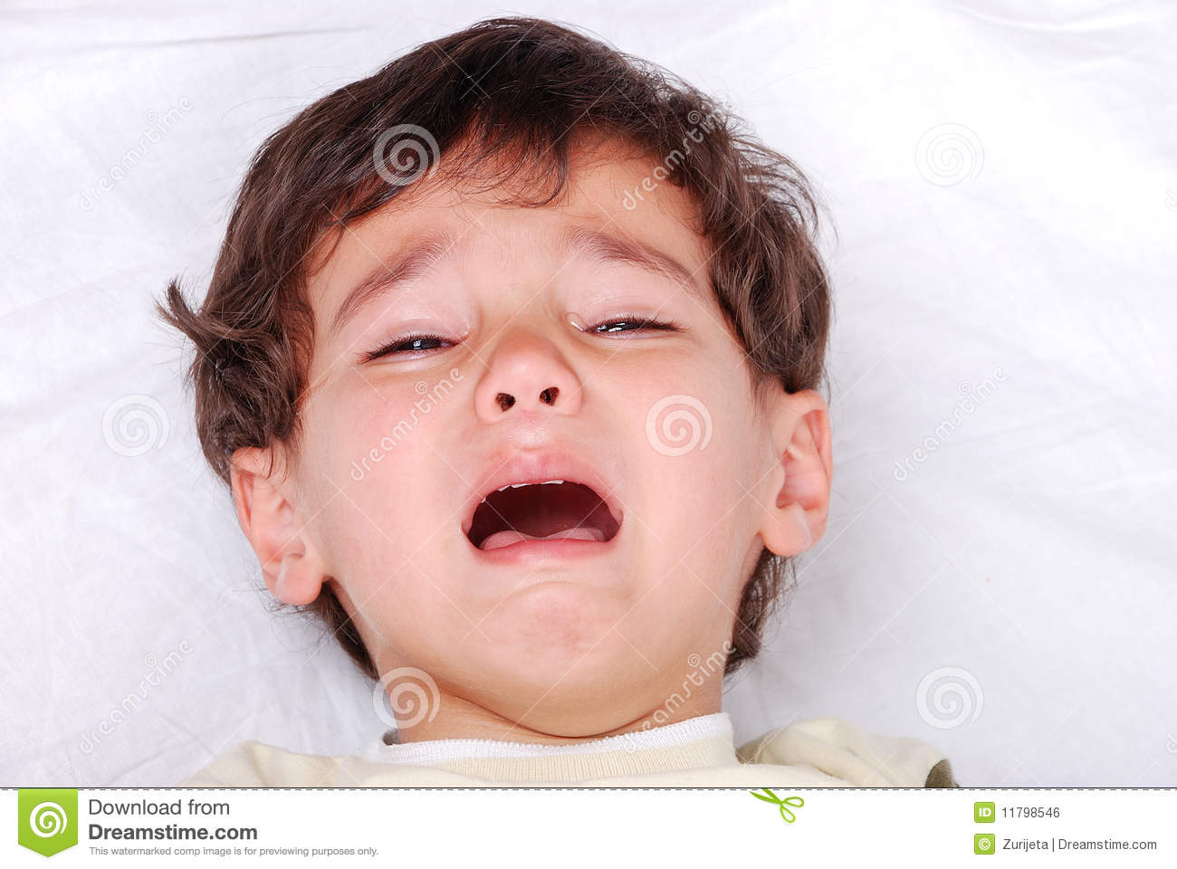 little cute kid is crying stock photo. image of background - 11798546