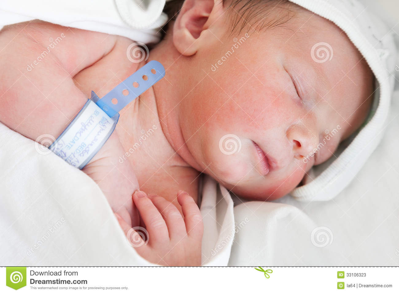 Little Cute Newborn Baby Child Sleeping Stock Image Image