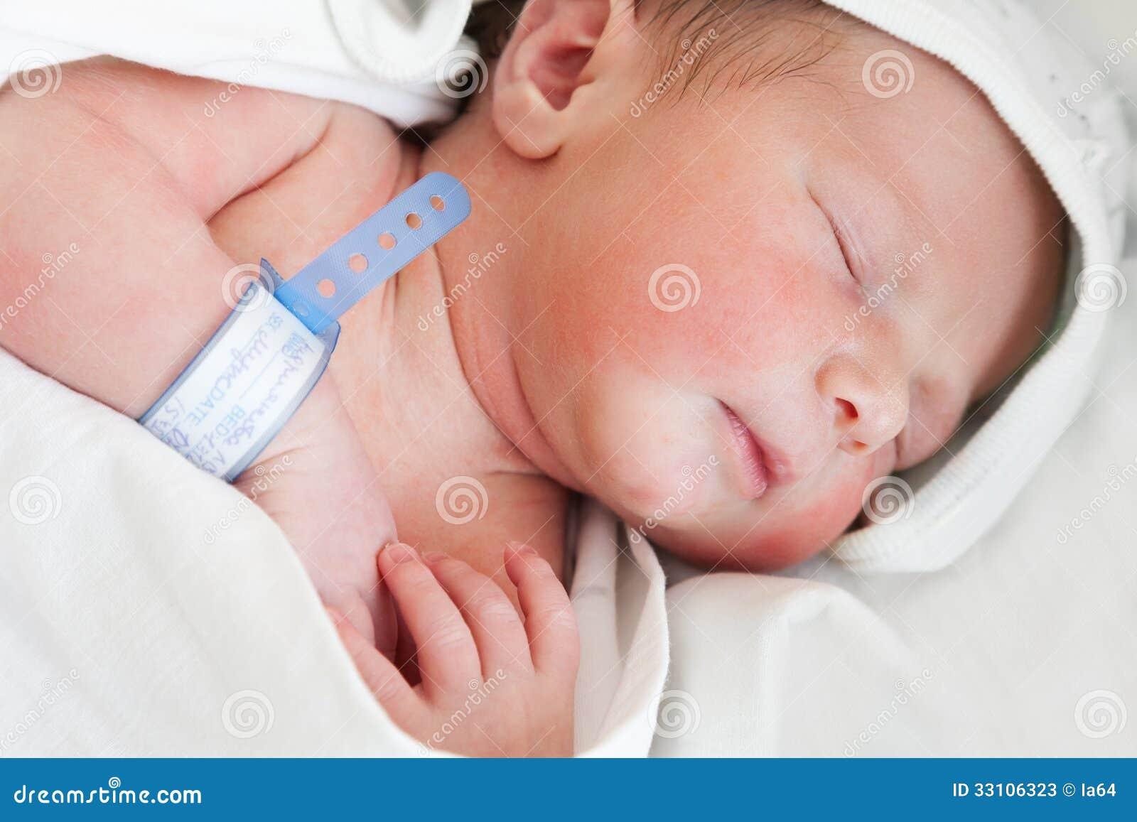 little cute newborn baby child sleeping stock image - image of human