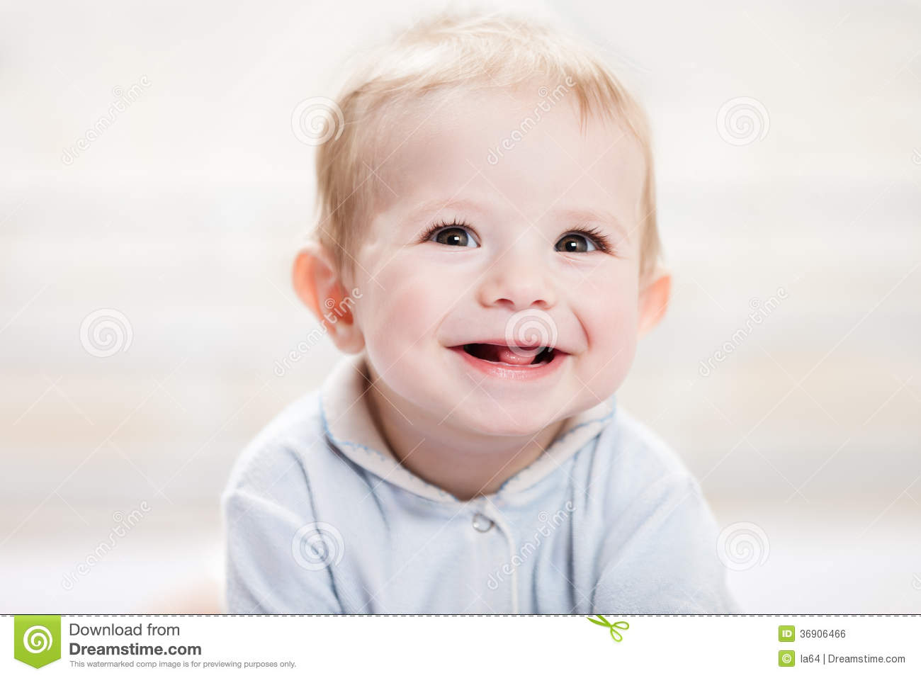 cute baby smiling face. happy latin child yawning royalty free stock