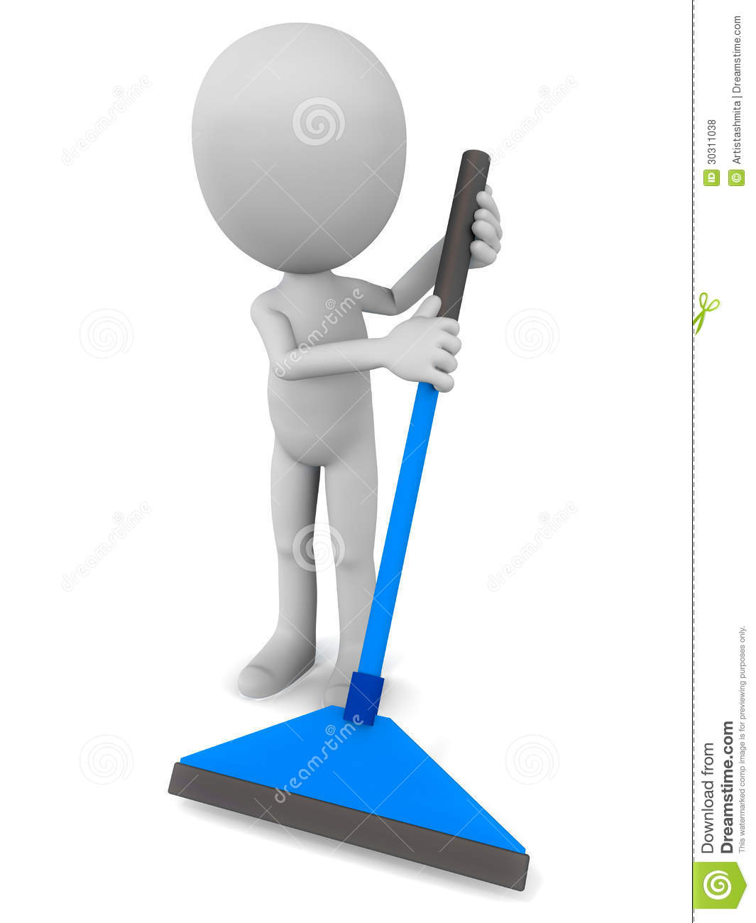 Mopping The Floor Royalty Free Stock Photos Image 30311038