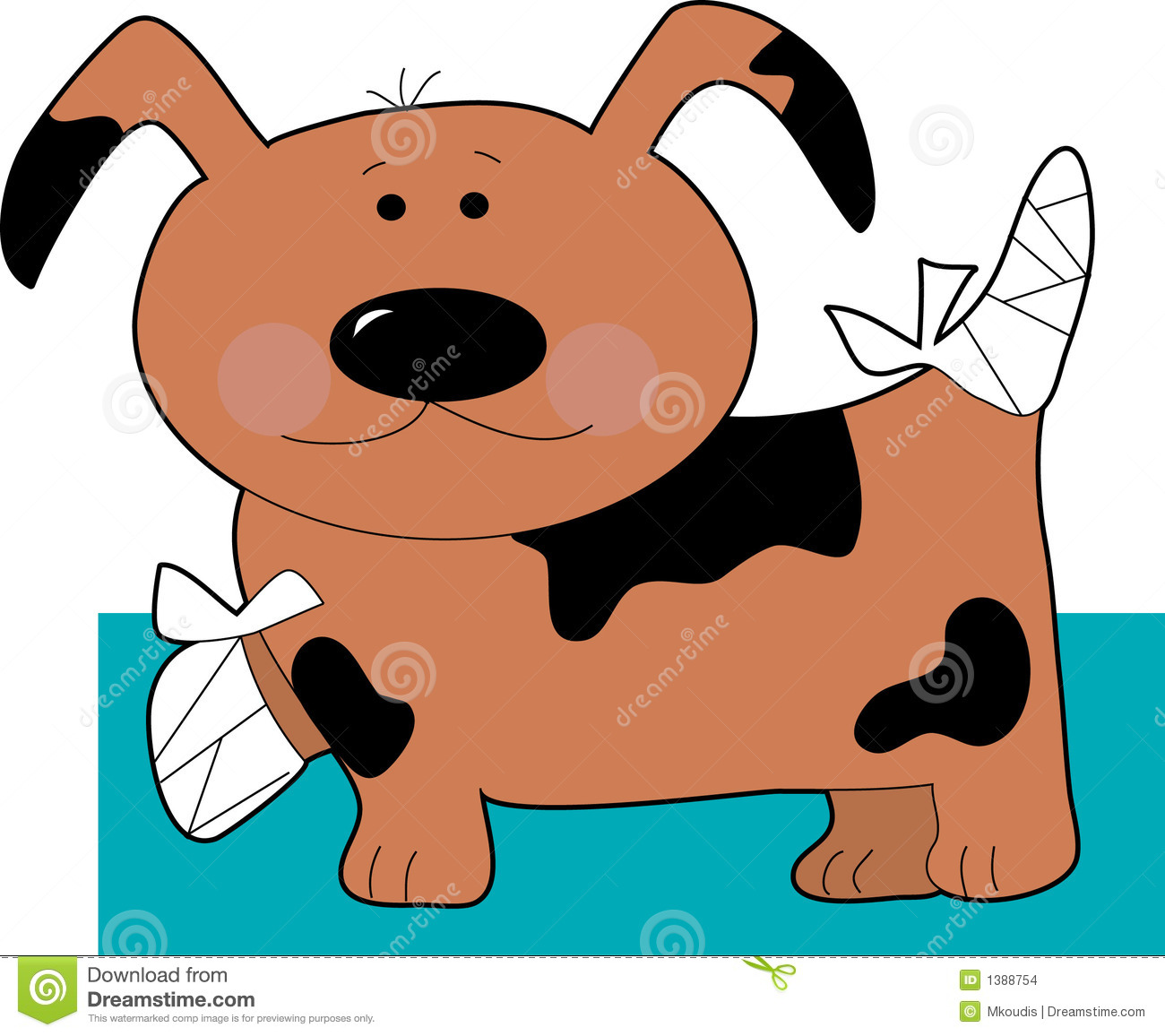 Little Dog In Bandages Stock Images - Image: 1388754 Graphic Equalizer Vector