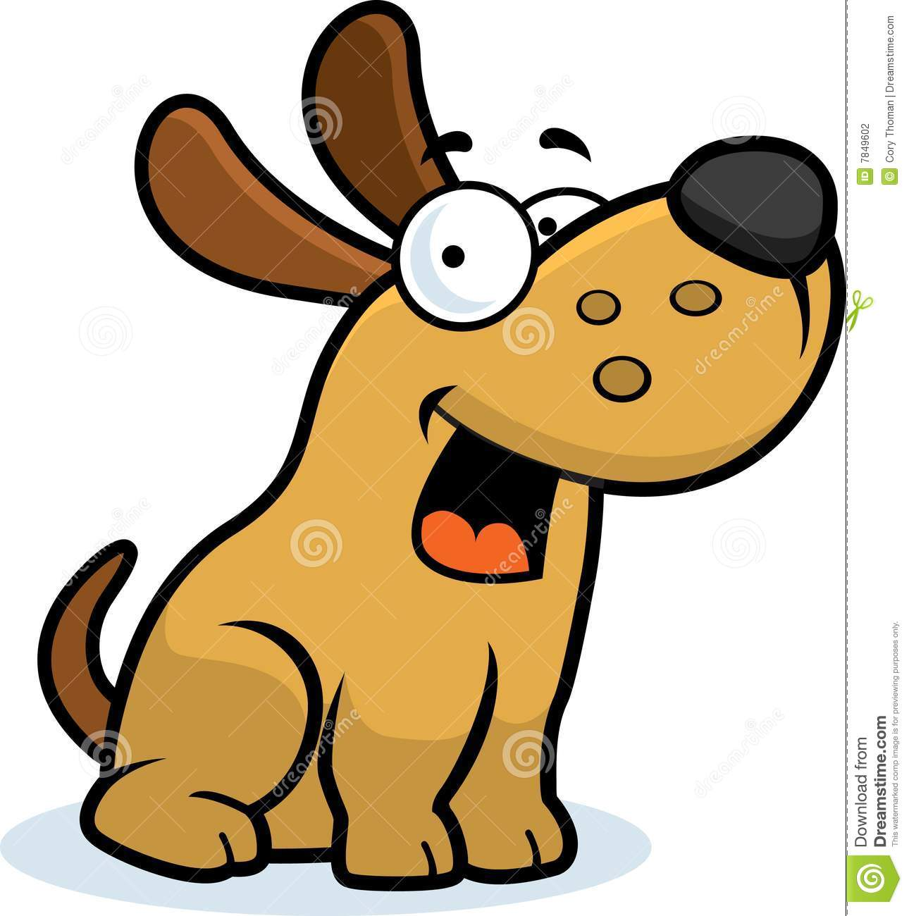 Dog Eating Clipart