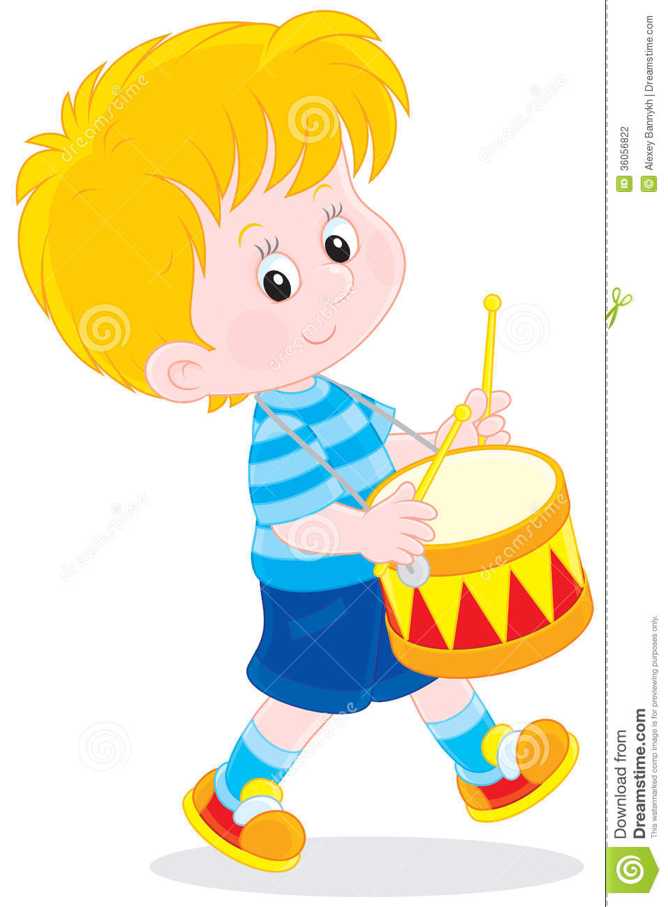 Little Boy Toys Clip Art : Little drummer stock photography image